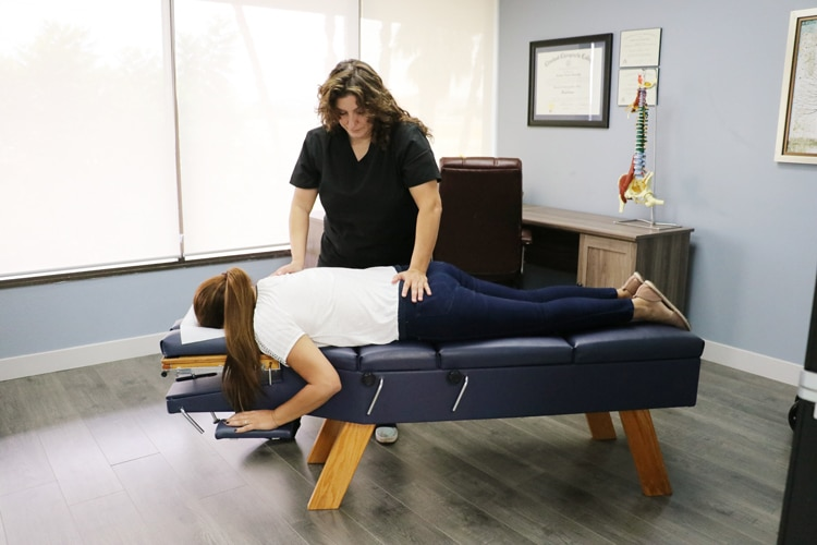 Chiropractic Adjustment at Nurture Family Chiropractic