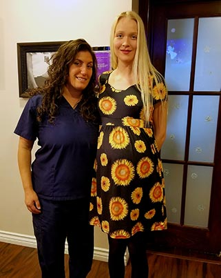 Chiropractor Beverly Hills CA Dr. Heather Valinsky with Patient